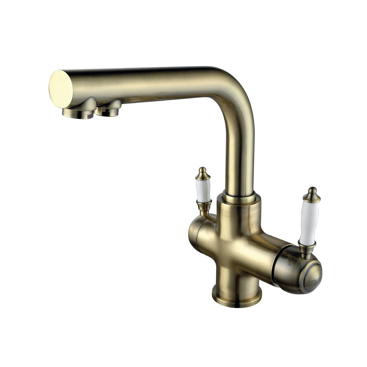 Смеситель для кухни Lemark Villa LM4861B с подключением к фильтру питьевой воды, бронза