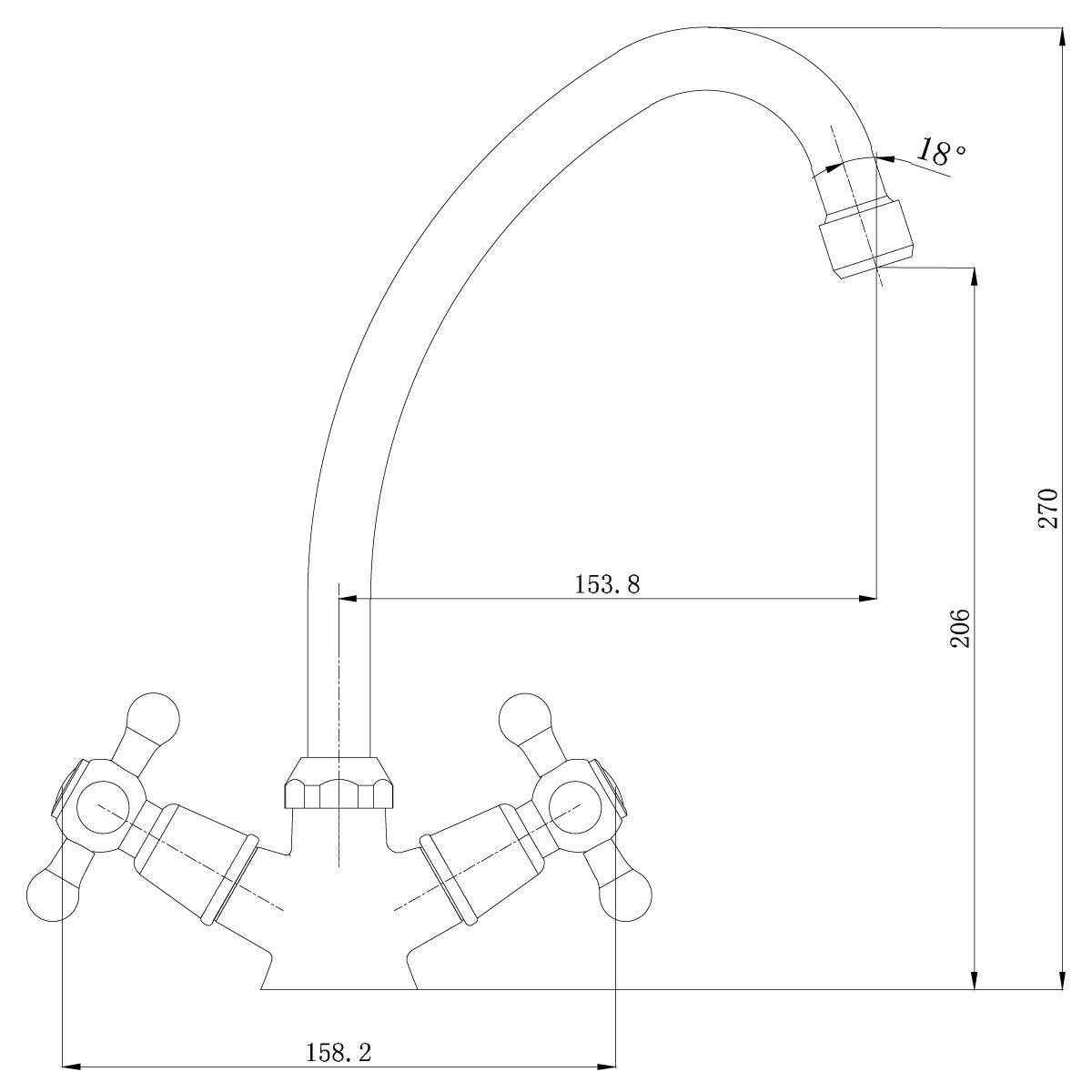 Смеситель для кухни Lemark Promotion LM6040C поворотным изливом