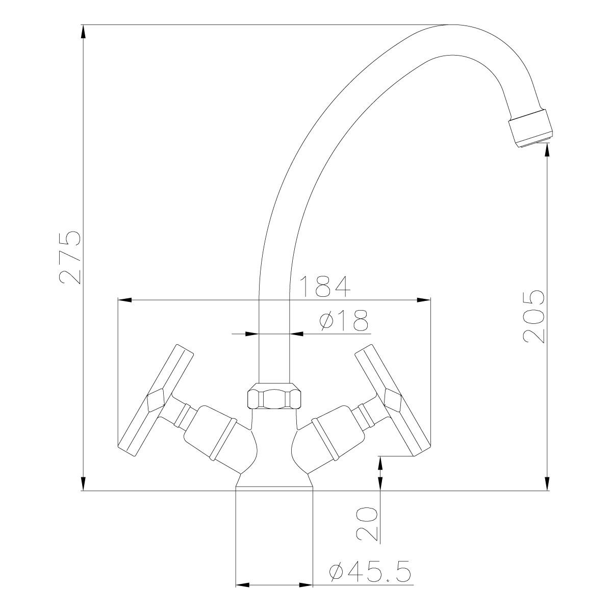 Смеситель для кухни Lemark Promotion LM6050C поворотным изливом