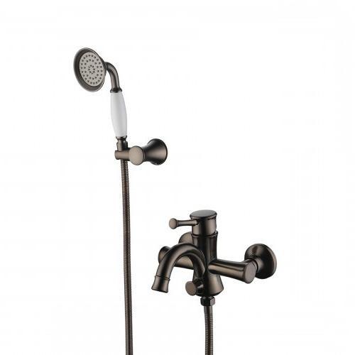 Смеситель для ванны и душа Lemark Peretto с коротким изливом, цвет черный кофе