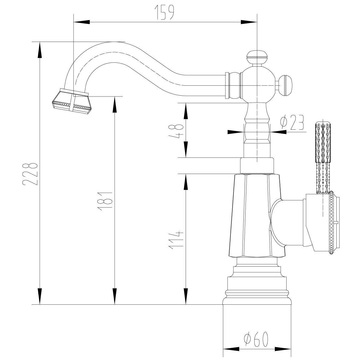 Смеситель для умывальника/кухни Lemark Jasmine LM6604ORB с поворотным изливом, черная бронза