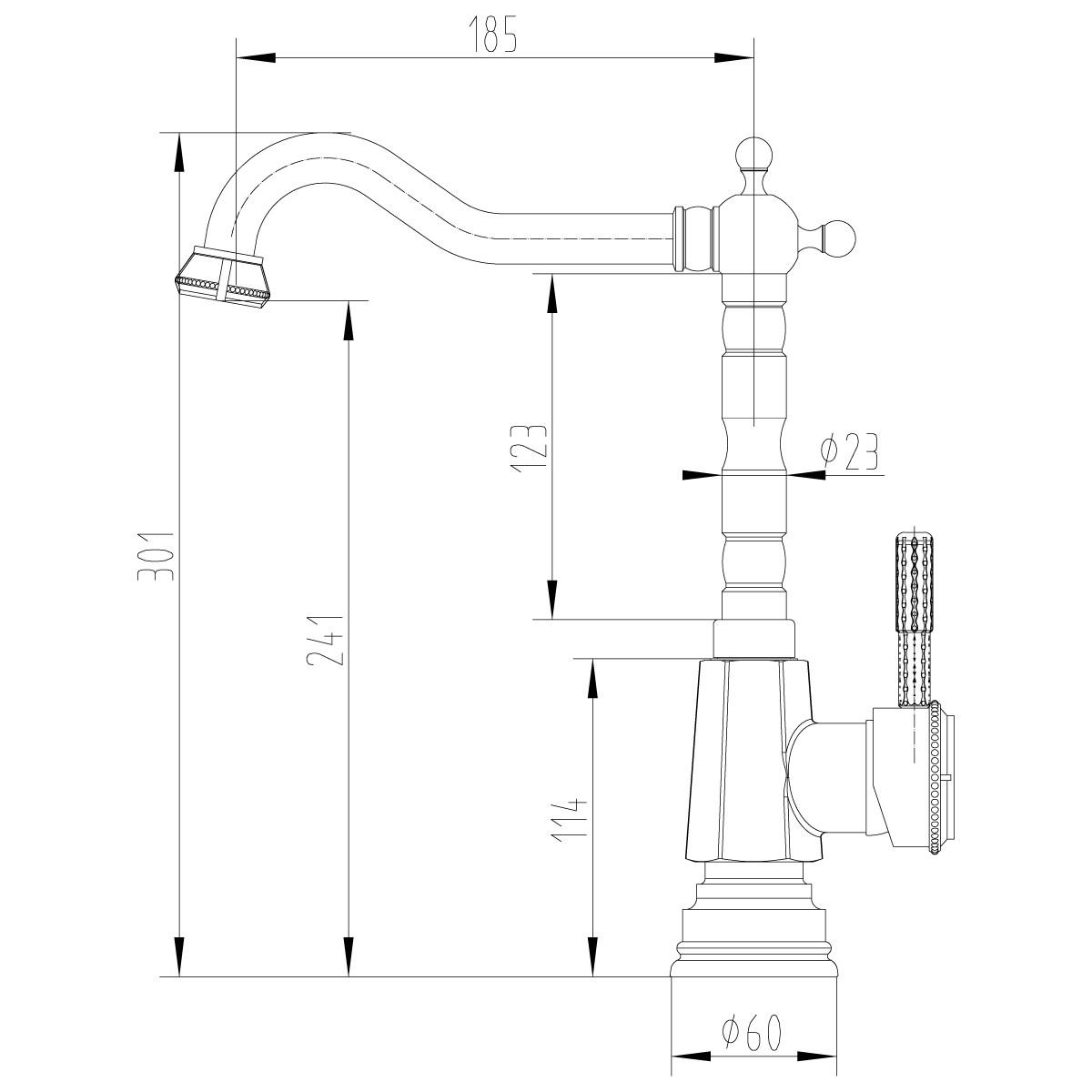 Смеситель для кухни Lemark Jasmine LM6605ORB с высоким поворотным изливом, черная бронза