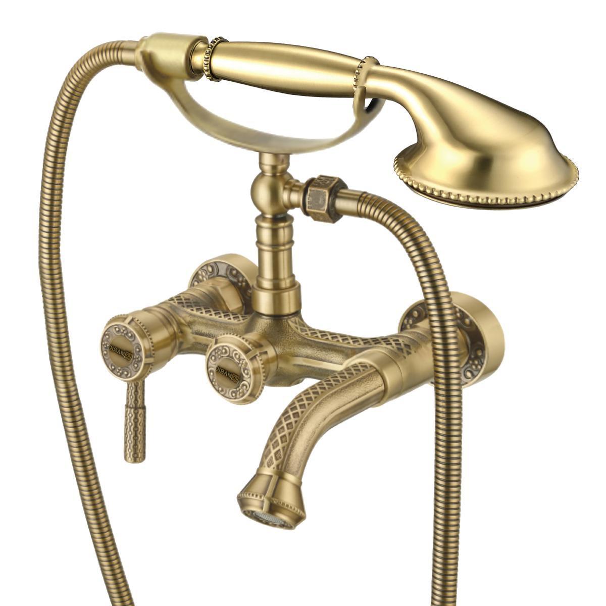 Смеситель для ванны Lemark Jasmine с коротким изливом, бронза