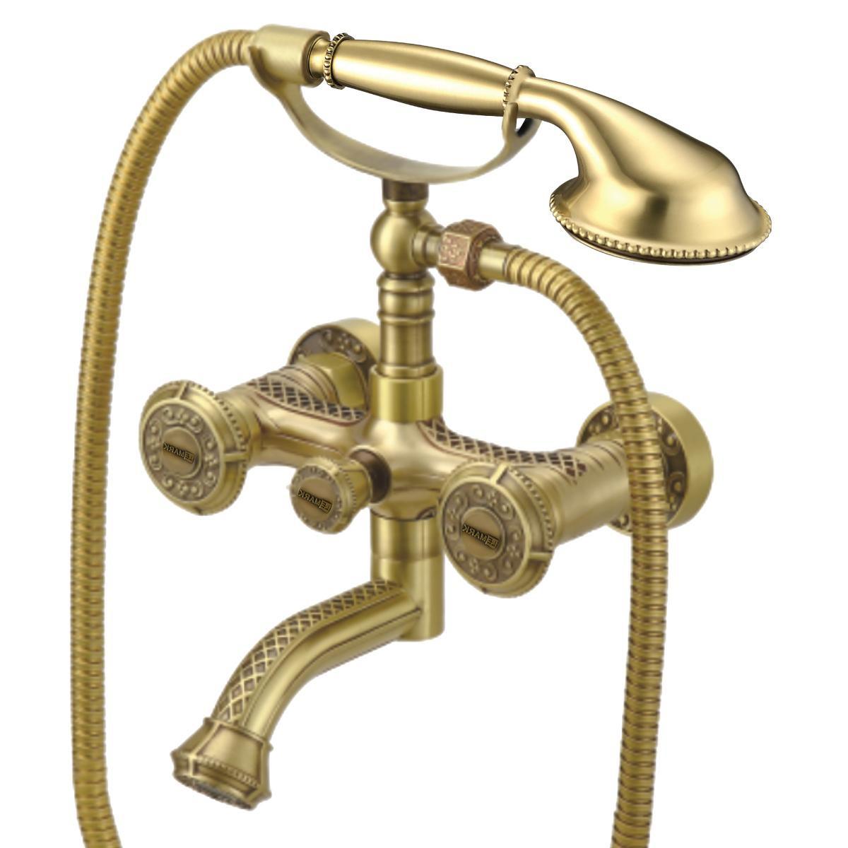 Смеситель для ванны Lemark Jasmine с поворотным изливом, бронза