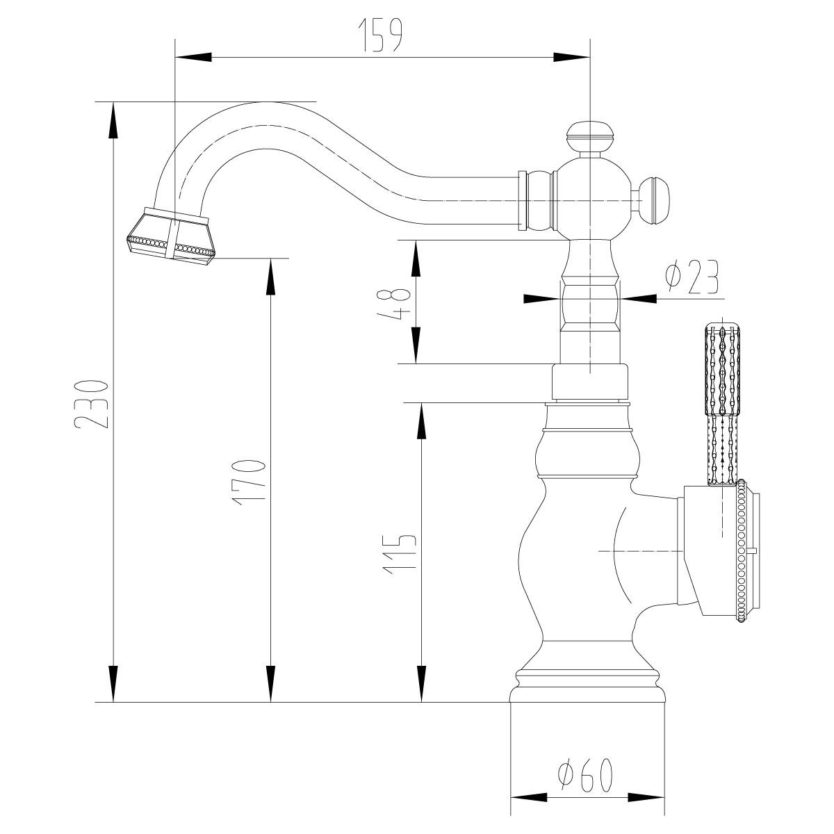 Смеситель для умывальника/кухни Lemark Jasmine LM6644ORB с поворотным изливом, черная бронза