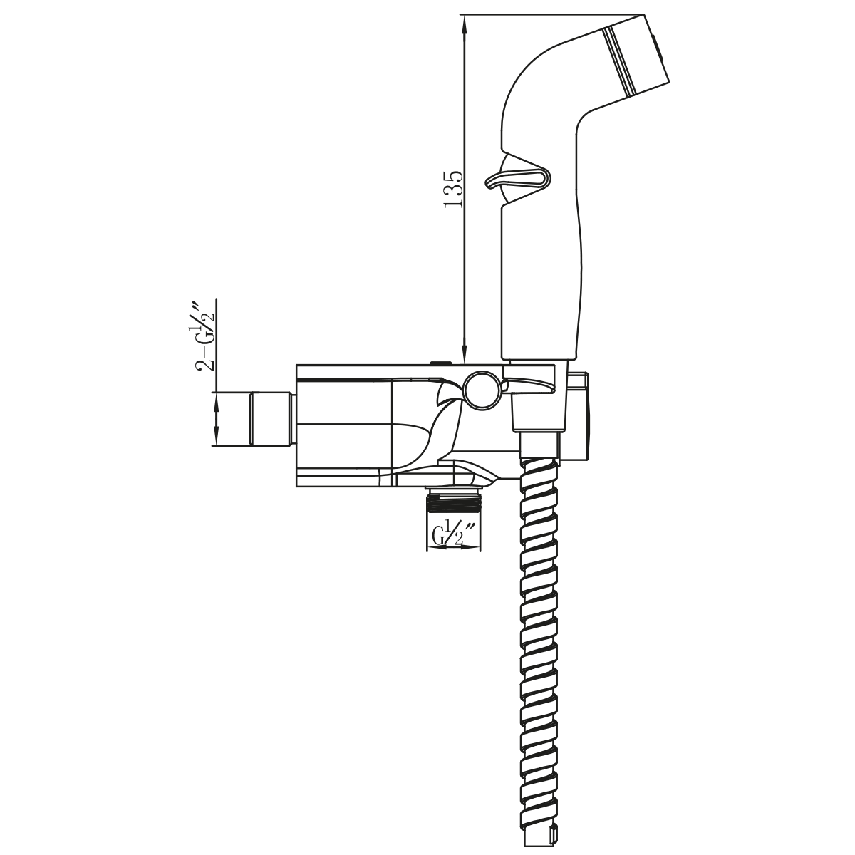 Смеситель с гигиеническим душем Lemark Solo термостатический настенный белый