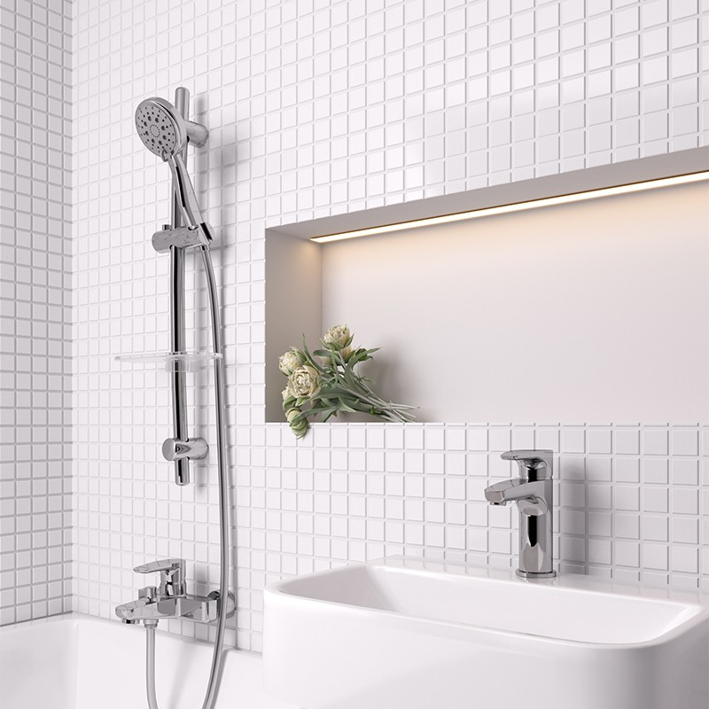Смеситель для ванны Paini Parallel 47CR111LMKM