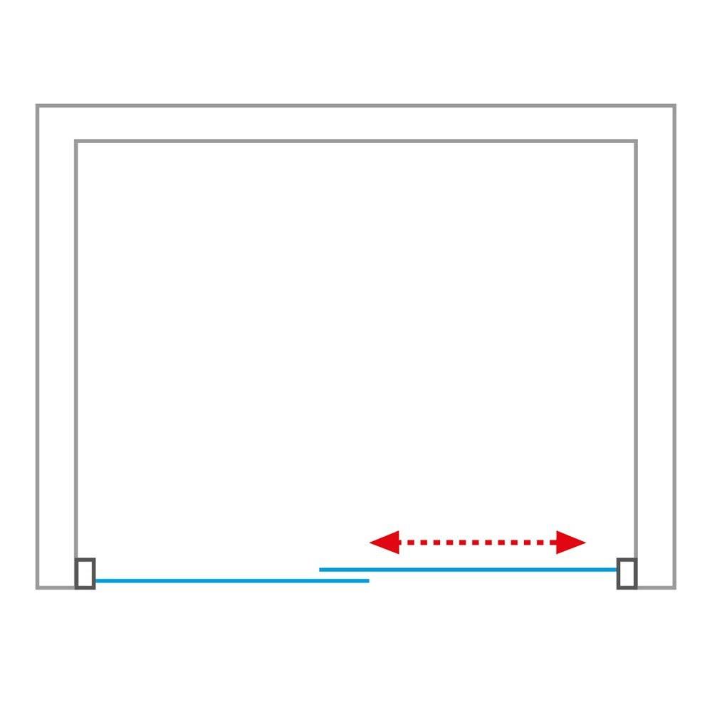 Душевая дверь EXCLUSIVE ECD2L/1500 1500*2050 black elox/transparent/6mm