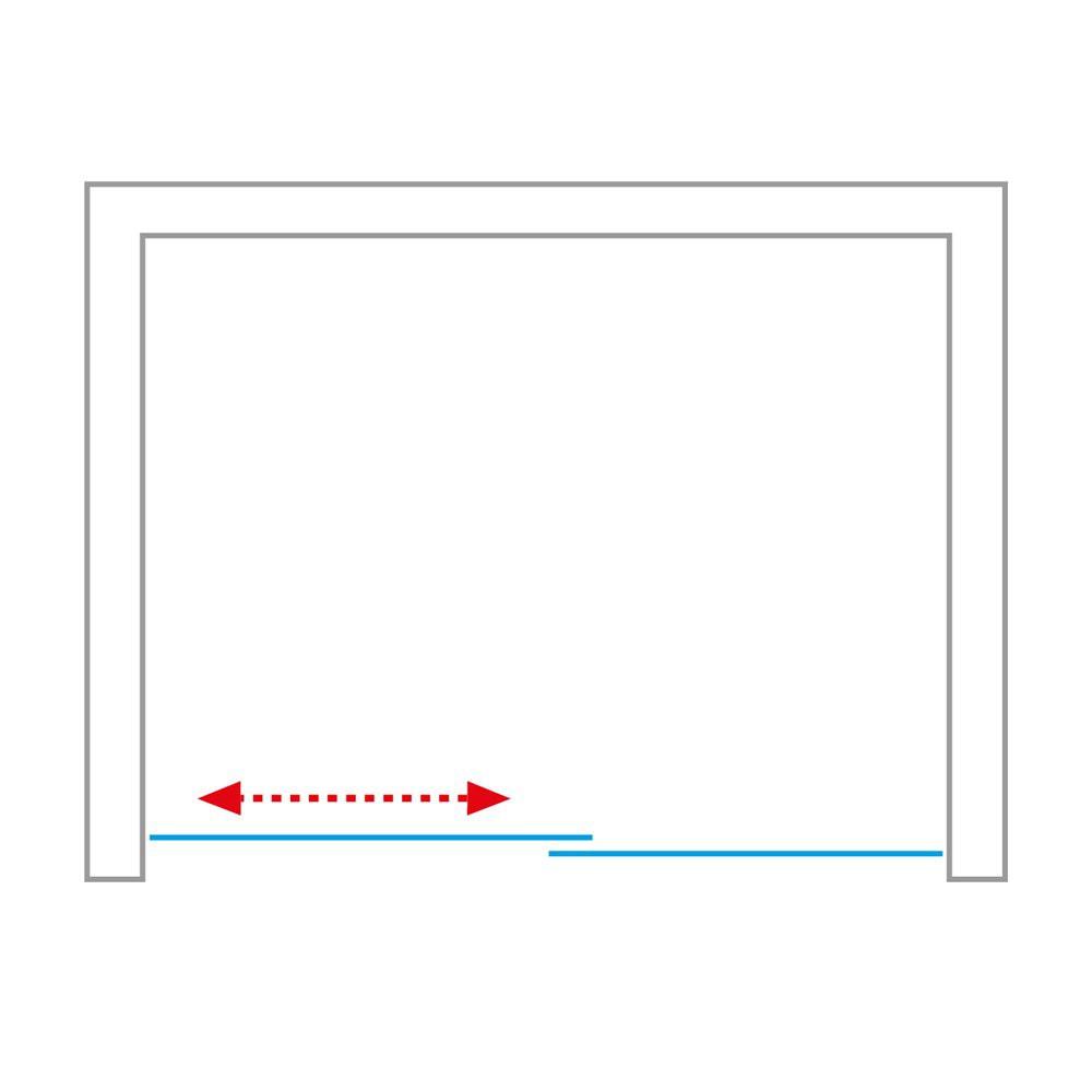 Душевая дверь AMBIENT AMD2/1200-1300 1300*2000 brillant/transparent/8mm