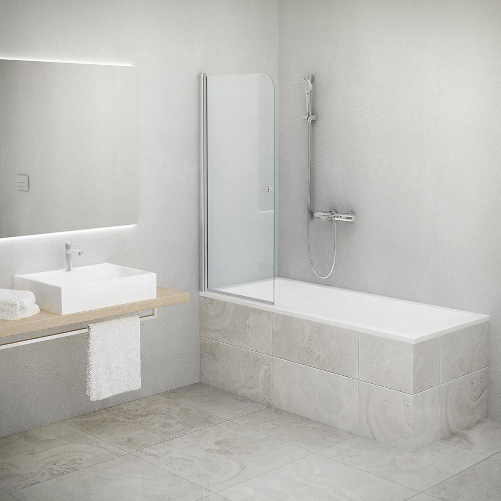 Шторка для ванн TV1/800 800*1400 silver/transparent/6mm