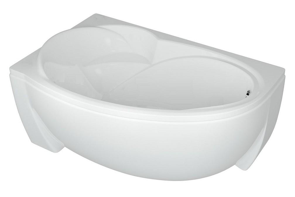 Акриловая ванна Акватек Бетта 150х95 левая на каркасе со сливом-переливом