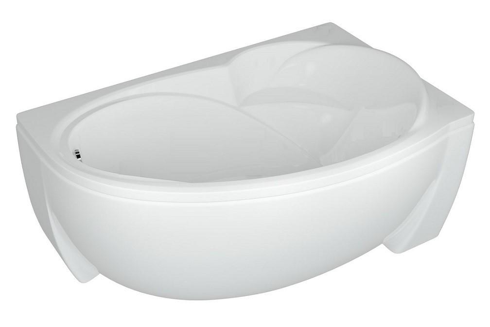 Акриловая ванна Акватек Бетта 170х97 правая на каркасе со сливом-переливом