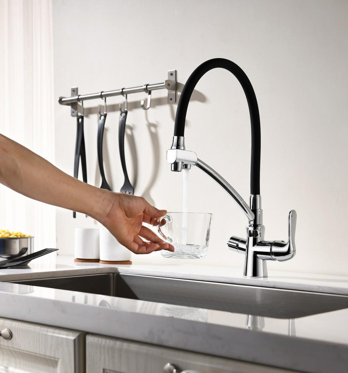 Смеситель для кухни Lemark LM3070C с подключением к фильтру с питьевой водой