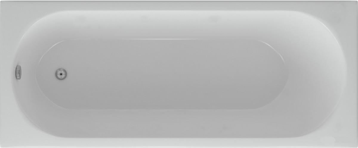 Ванна акриловая Акватек Оберон-160 на каркасе со сливом-переливом