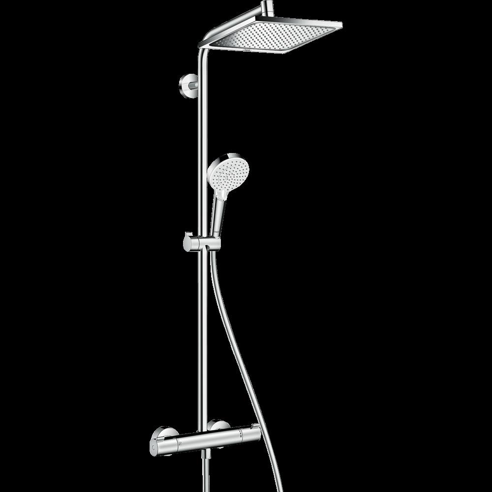 Душевая стойка Hansgrohe Crometta E Showerpipe 240 1jet с термостатом