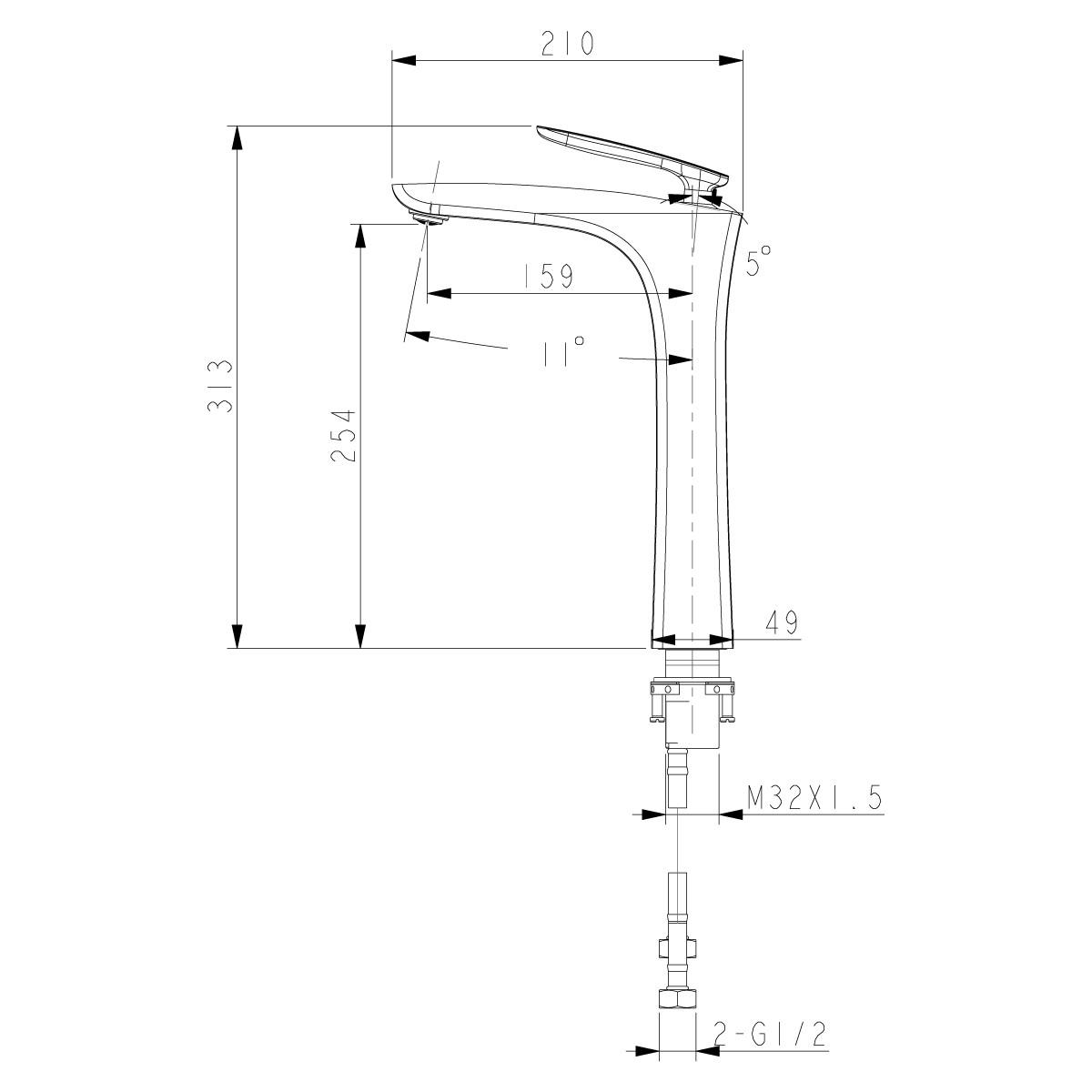 Смеситель для накладной раковины Lemark Bellario LM6809C