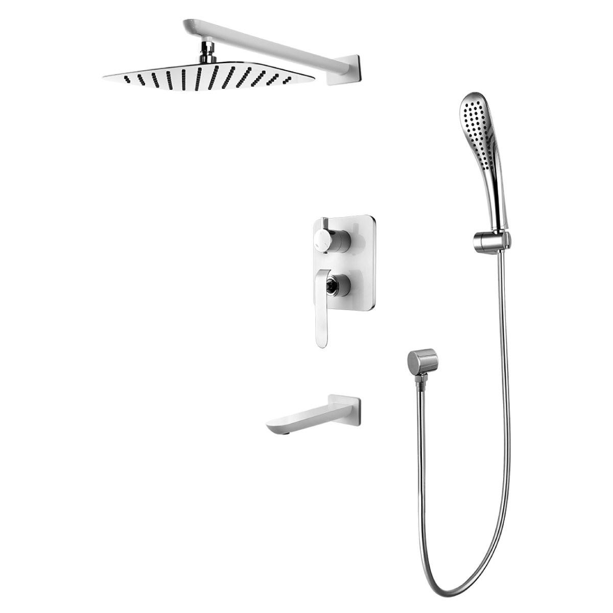 Смеситель Lemark Melange LM4922CW для ванны и душа встраиваемый