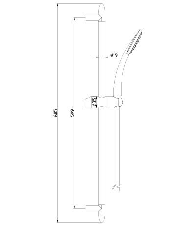 Душевой набор Lemark LM8067C с лейкой и шлангом