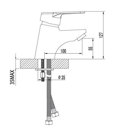 Смеситель Lemark Luna LM4106C для раковины