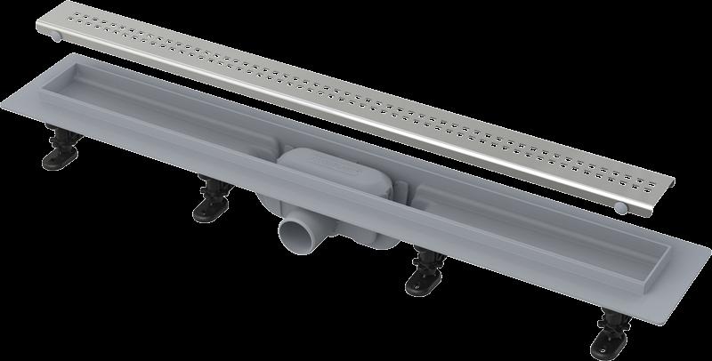 Водоотводящий жолоб Alcaplast APZ9-750M Simple с порогами для перфорированной решетки