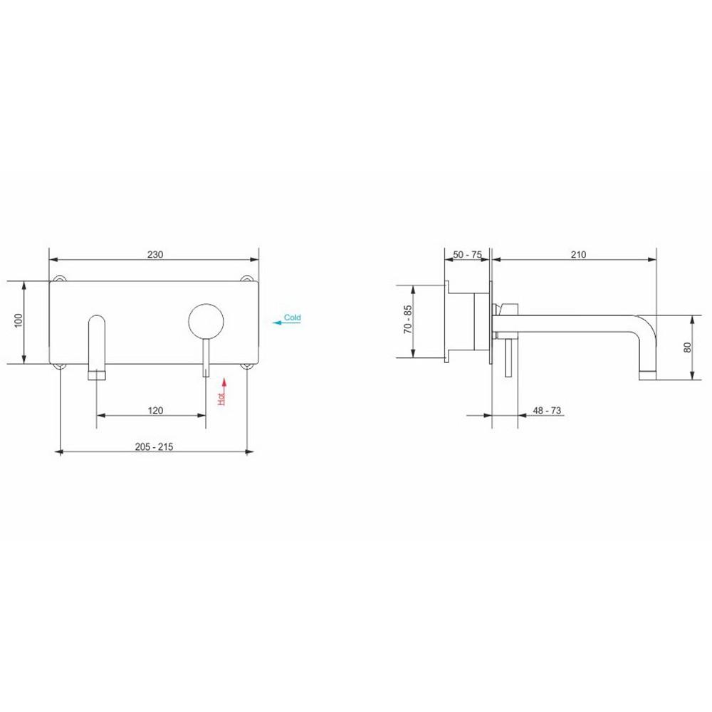 Смеситель с изливом встраиваемый RGW SP-45-10