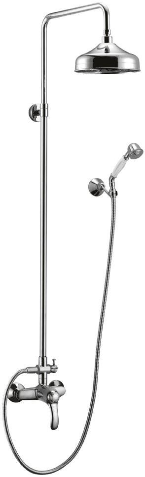 Душевая колонна Cezares LIRA-C-CD-01 со смесителем, верхним и ручным душем, хром