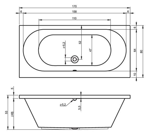 Акриловая ванна Riho Carolina 170