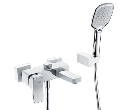Смеситель для ванны WasserKRAFT Aller 1061WHITE с коротким изливом