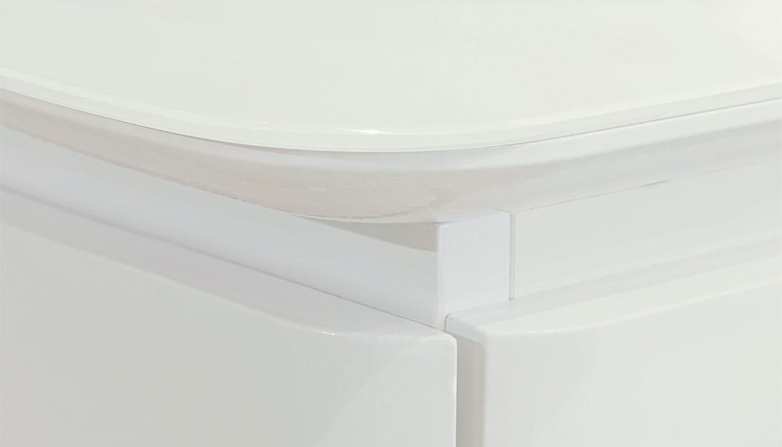 Тумба с накладной раковиной Velvex Luna 60