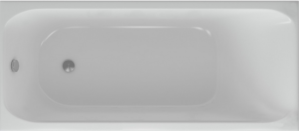 Акриловая ванна Акватек Альфа 150х70 на каркасе со сливом-переливом