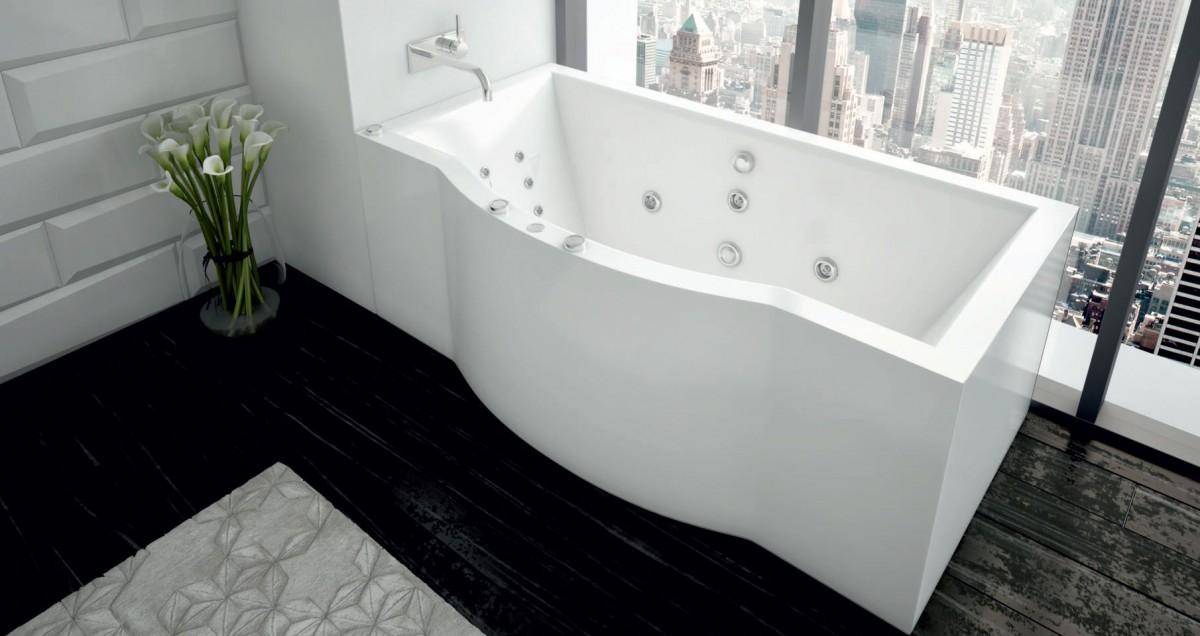 Акриловая ванна Акватек Гелиос 180х90 на каркасе со сливом-переливом