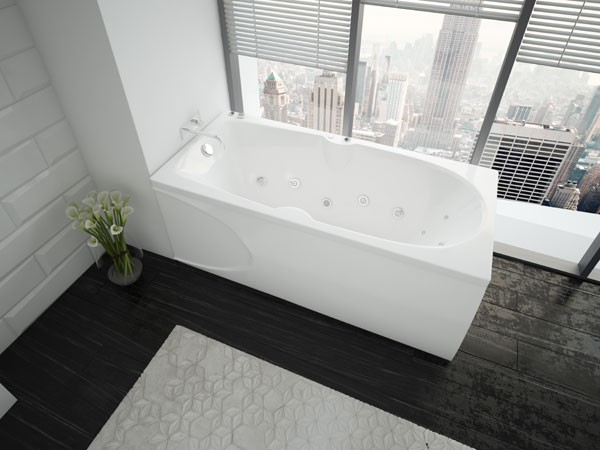 Акриловая ванна Акватек Европа 180х80 на каркасе со сливом-переливом