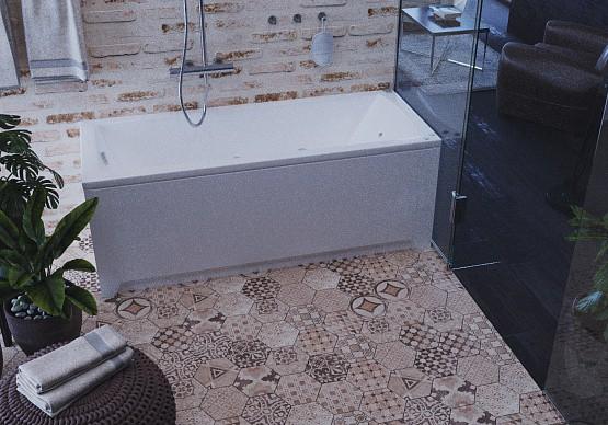 Акриловая ванна Акватек Либра NEW 170х70 на каркасе со сливом-переливом