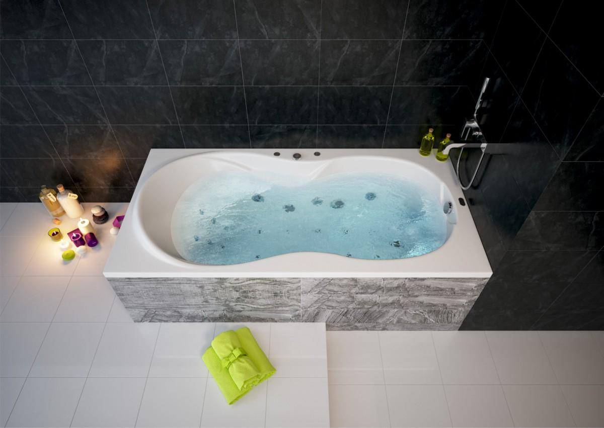 Акриловая ванна Акватек Мартиника 180х90 на каркасе со сливом-переливом