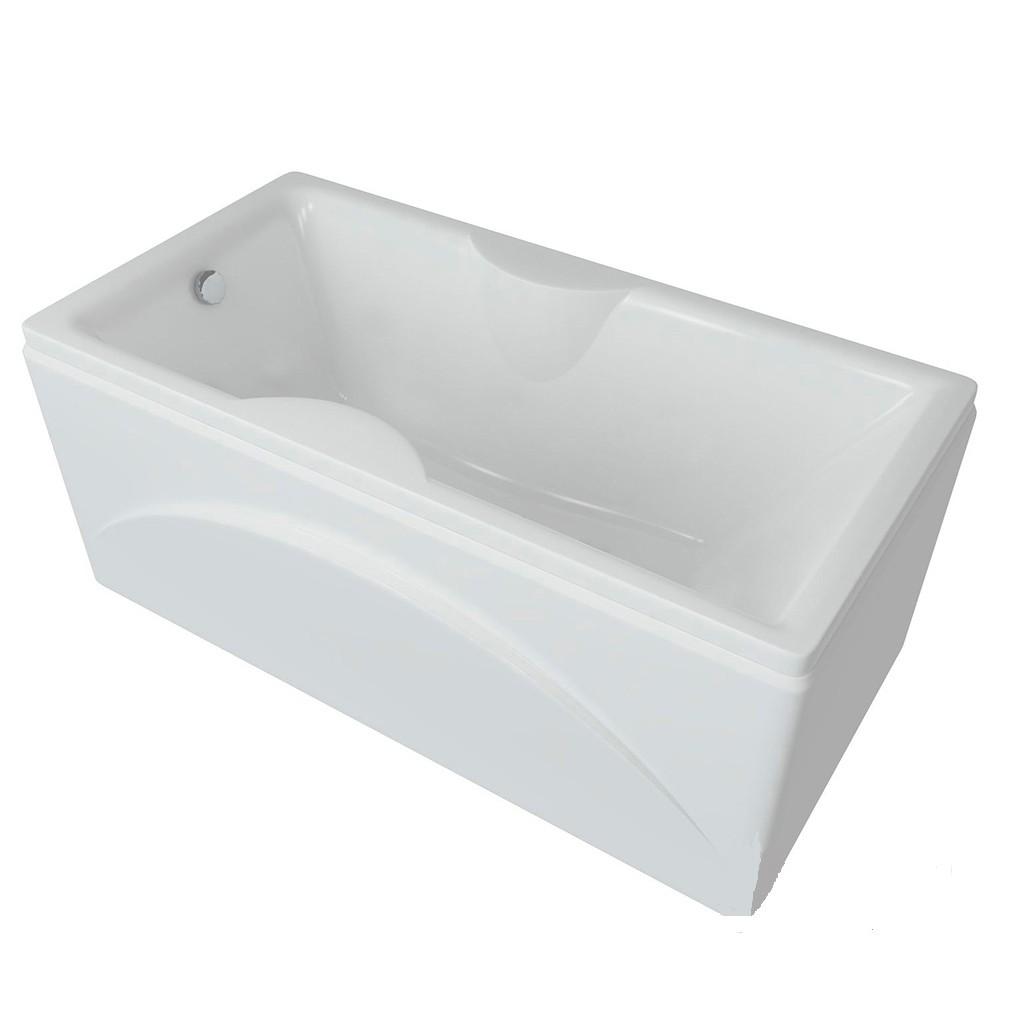 Акриловая ванна Акватек Феникс 170х75 на каркасе со сливом-переливом
