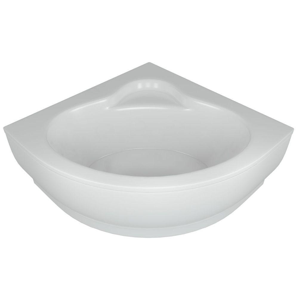 Акриловая ванна Акватек Калипсо 146х146 на каркасе со сливом-переливом