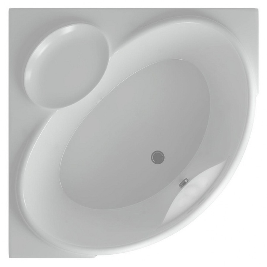 Акриловая ванна Акватек Эпсилон 150х150 на каркасе со сливом-переливом