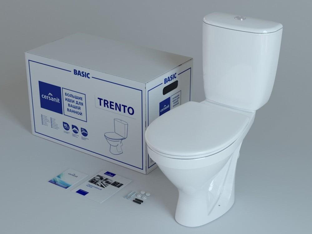 Унитаз компакт Cersanit Trento TR011 с сиденьем термопласт и микролифтом