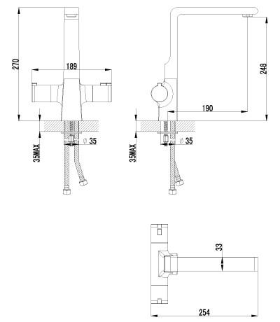 Смеситель для кухни Lemark Yeti LM7835C термостатический