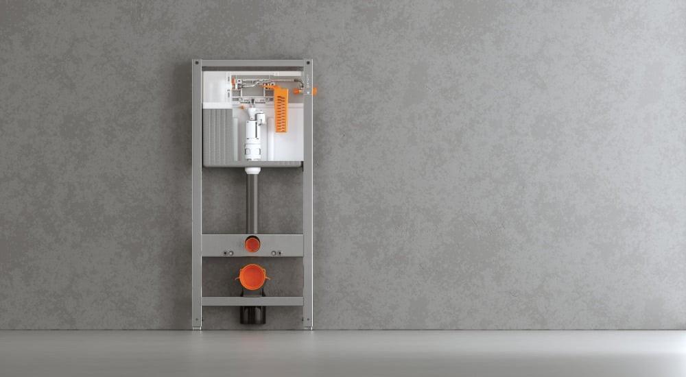 Инсталляция Cersanit Aqua 50 Slim Quick Fix оцинкованный каркас для унитаза с бачком