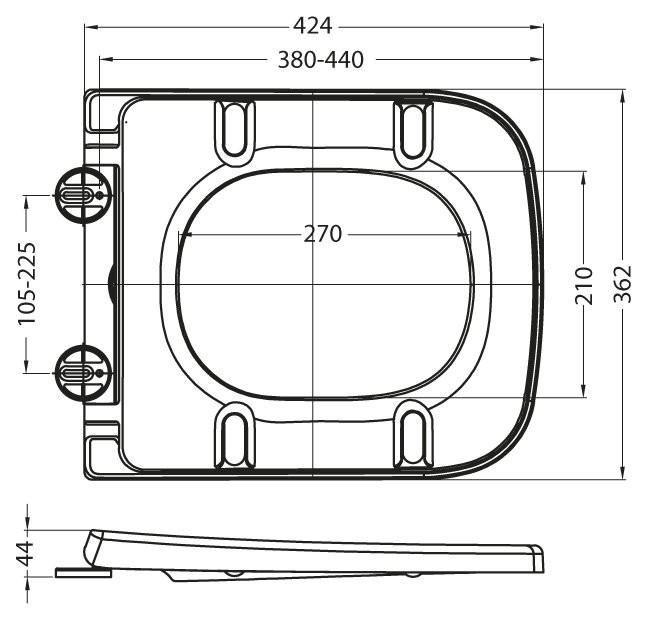 Унитаз подвесной BelBagno Alpina безободковый с сиденьем-микролифт