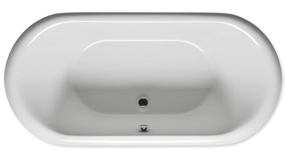 Акриловая ванна Riho Dua 180 c белой панелью, сифоном и опорами