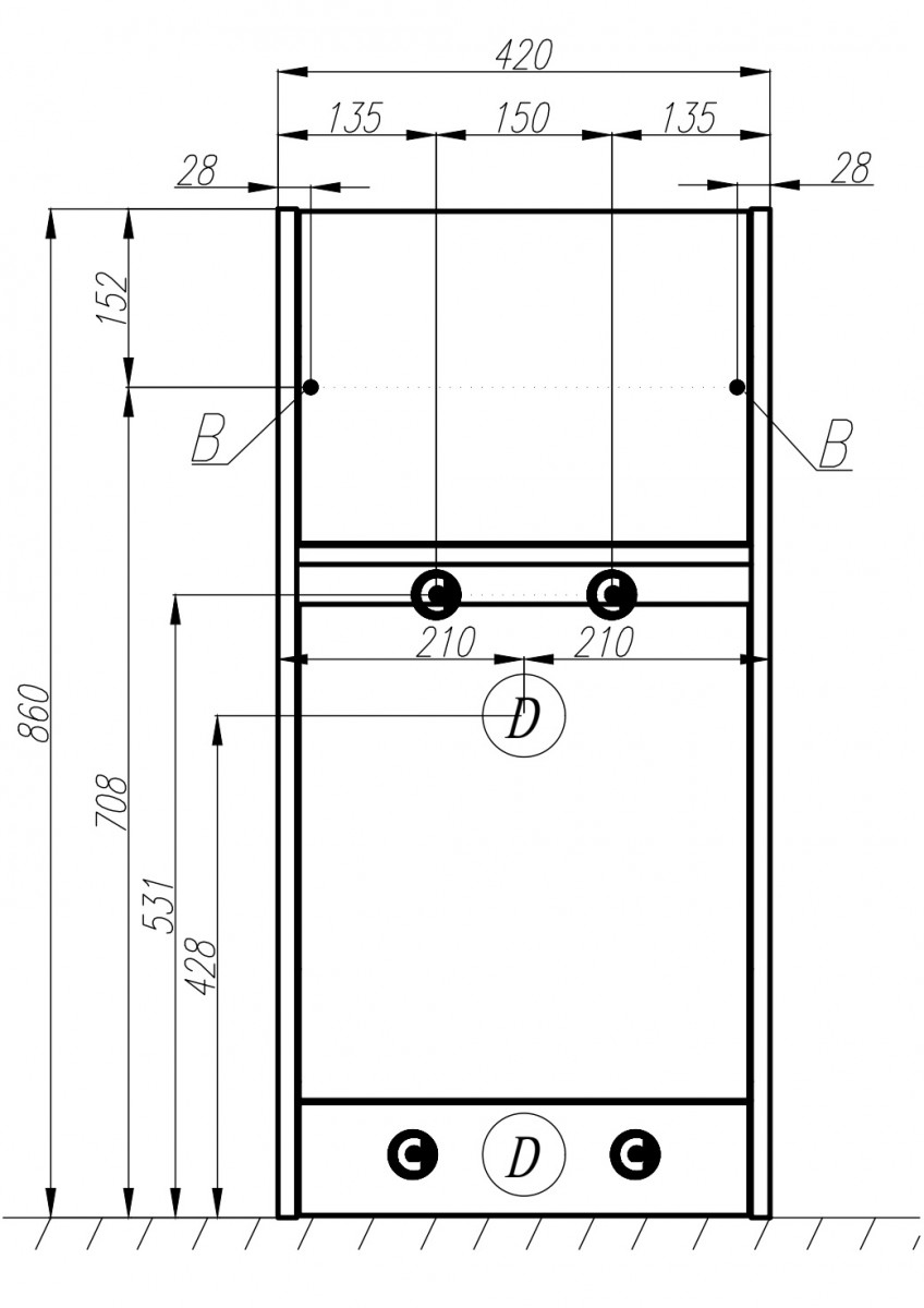 Тумба Акватон Лондри 40 с раковиной для стиральной машины Лондри 105