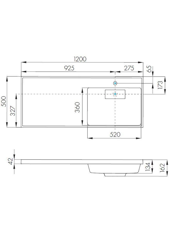 Тумба Акватон Лондри 60 с раковиной для стиральной машины Лондри 120