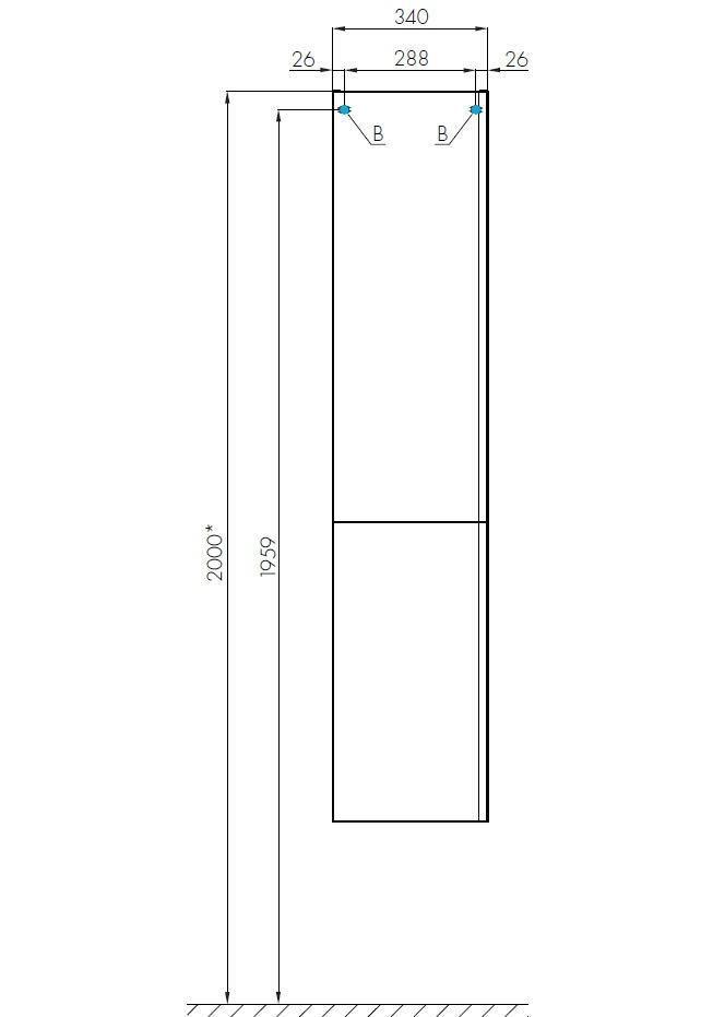 Шкаф-колонна Акватон Беверли правая