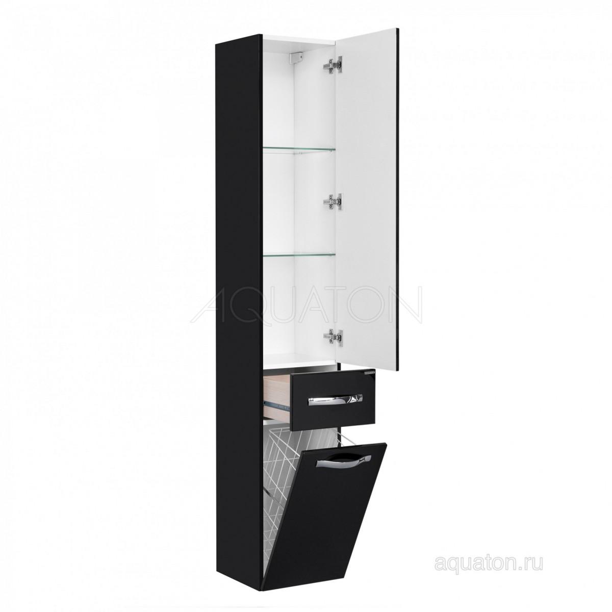 Шкаф-колонна Акватон Ария М подвесная черная