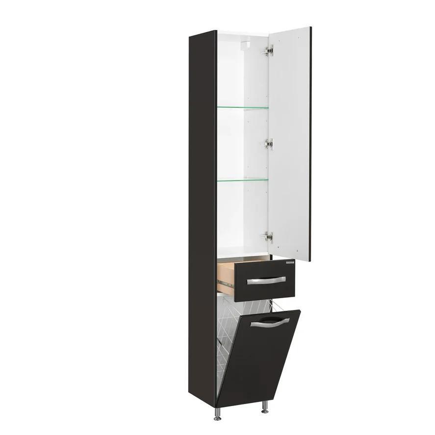 Шкаф-колонна Акватон Ария Н черная