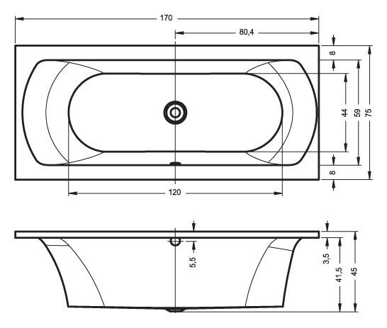 Акриловая ванна Riho Lima 170