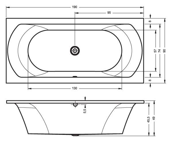 Акриловая ванна Riho Lima 190