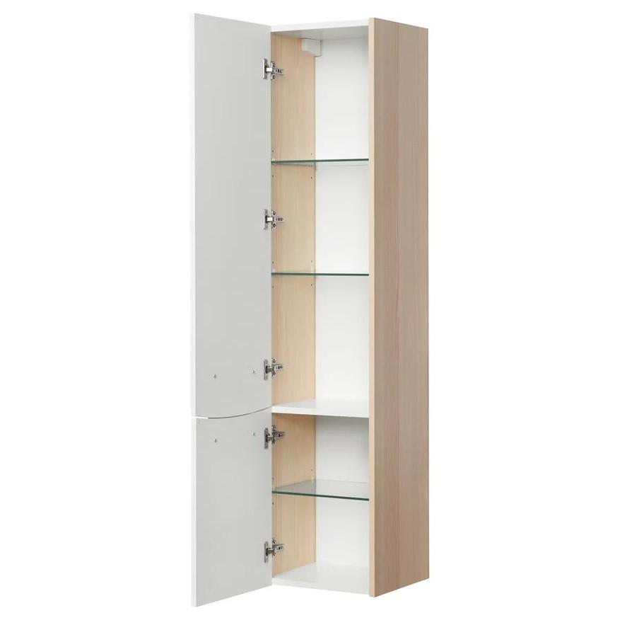 Шкаф-колонна Акватон Инфинити ясень Коимбра левая